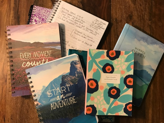 Pile of writing journals