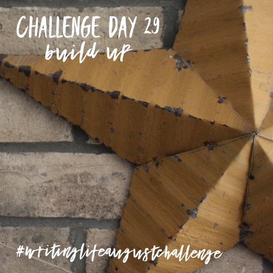 Challenge Day 29 build up #writinglifeaugustchallenge